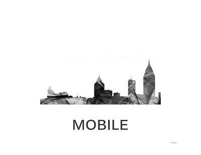Mobile Alabama Skyline Art Print by Marlene Watson