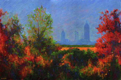 Mobile Skyline From Felix's Art Print by Vernon Reinike