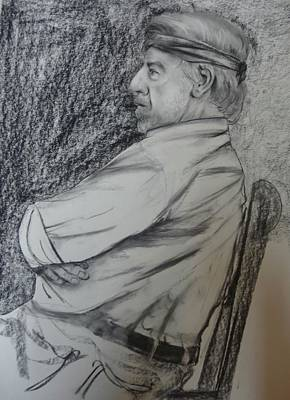 Dave Drawing - Model D by Bahman Zadegan