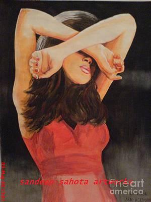 Russel Ray Painting - Model by Sandeep Kumar Sahota