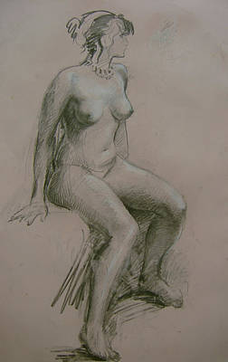 Drawing - Model Study by Tigran Ghulyan