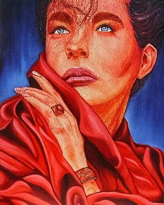 Painting - Modeled Beauty by Shahid Muqaddim