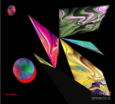 Digital Art - Modern Abstract by Iris Gelbart