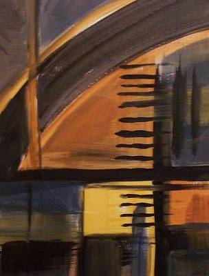 Painting - Modern Architecture 1 by Anita Burgermeister