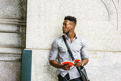 Photograph - Modern College Student In New York by Alexander Image
