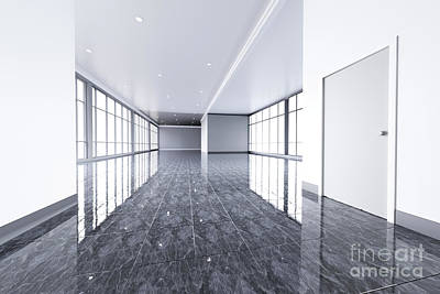 Photograph - Modern Empty Office Interior With Big Windows. by Michal Bednarek