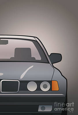 Modern Euro Icons Series Bmw E32 740i Art Print