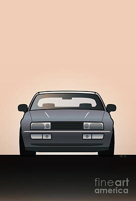 Modern Euro Icons Series Vw Corrado Vr6 Art Print