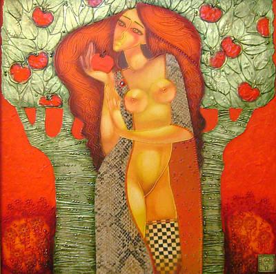 Modern Eve Art Print by Stefan Georgiev