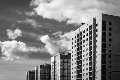 Photograph - Modern High Rise Apartment Buildings by John Williams