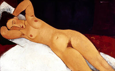 Amadeo Modigliani Painting - Modigliani Nude 1917 by Granger