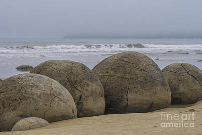 Photograph - Moeraki Boulders by Patricia Hofmeester