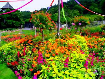 Digital Art - Mohonk Gardens #5 by Ed Weidman
