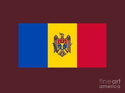 Moldova Digital Art - Moldova Flag by Frederick Holiday