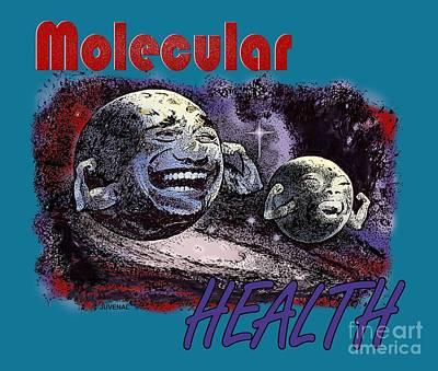 Molecular Health Art Print by Joseph Juvenal