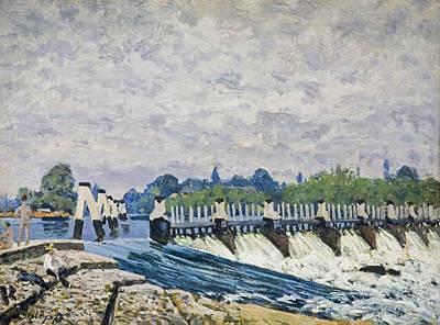 Molesey Weir-hampton Court Art Print