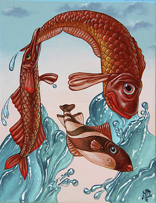 Painting - Mona Lisa. Water by Victor Molev