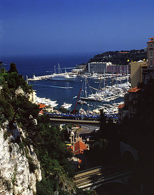 Photograph - Monaco Harbor by John Bowers