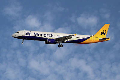 Monarch Airbus A321-231  Art Print