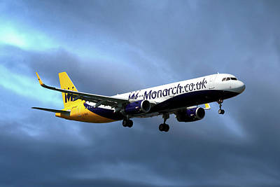 Tenerife Photograph - Monarch Airlines Airbus A321-231 by Nichola Denny