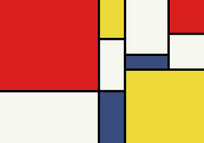 3d Digital Art - Mondrian Inspired by Michael Tompsett