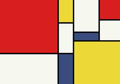 Digital Art - Mondrian Inspired by Michael Tompsett