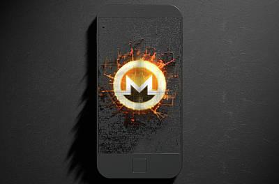 Virtual Digital Art - Monero Cloner Smartphone by Allan Swart