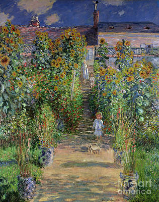 Painting - Monet's Garden At Vetheuil by Celestial Images