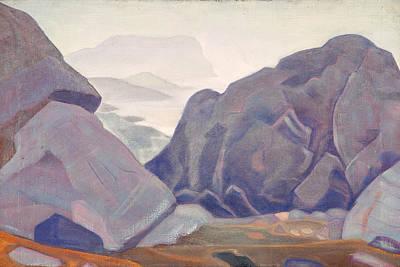 Cliff Painting - Monhegan, Maine by Nicholas Roerich