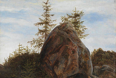 Fearnley Painting - Monolith And Trees by MotionAge Designs