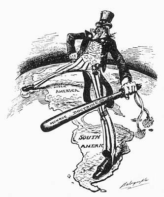 Photograph - Monroe Doctrine Cartoon by Granger
