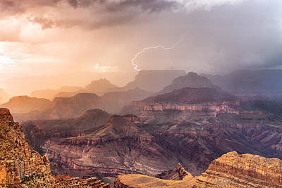Lightning Photograph - Monsoon by John Sirlin
