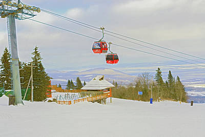 Photograph - Mont Sainte Anne In Quebec, Canada. by Marek Poplawski