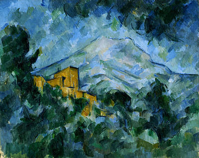 Chateau Painting - Mont Sainte-victoire And Chateau Noir by Paul Cezanne