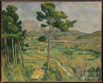 Victoire Painting - Mont Sainte-victoire And The Viaduct Of The Arc River Valley by Celestial Images