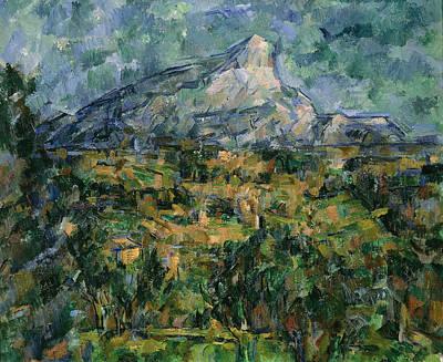Mont Sainte Victoire Art Print by Paul Cezanne