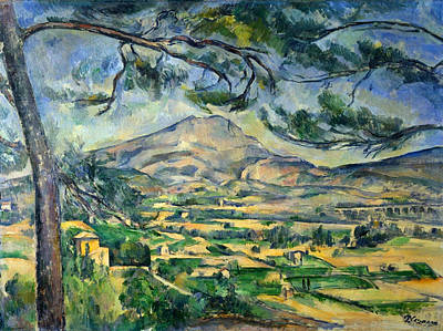 Bridge Painting - Mont Sainte-victoire With Large Pine by Paul Cezanne