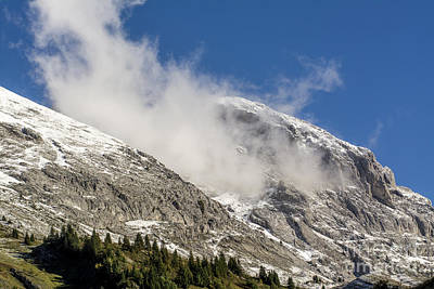 Snow Covered Trees Photograph - Montain Range Snow Covered.  by Bernard Jaubert