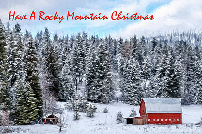 Photograph - Have A Rocky Mountain Christmas  by Wes and Dotty Weber