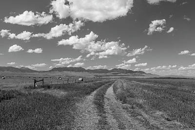 Photograph - Montana Countryside Black And White  by John McGraw