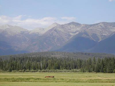 Montana Mountains Art Print by Lisa Patti Konkol