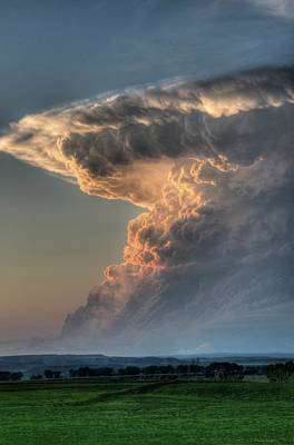 Photograph - Montana Thunderstorm by Dave Rennie