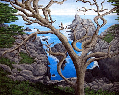 Clouds Painting - Monterey Cypress by Frederic Kohli
