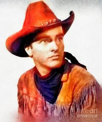 Montgomery Clift, Vintage Hollywood Actor Art Print