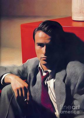 Painting - Montgomery Clift, Vintage Movie Star by John Springfield
