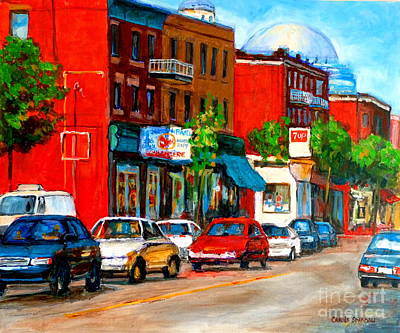 Montreal Paintings Art Print by Carole Spandau