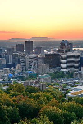 Photograph - Montreal Sunrise by Songquan Deng