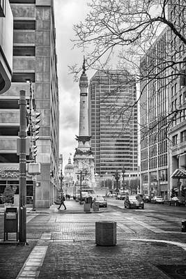 Art Print featuring the photograph Monument Circle by Howard Salmon
