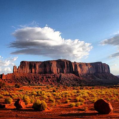 Rock Photograph - Monument Valley by Luisa Azzolini