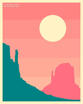 Monument Valley, Navajo Tribal Park Art Print by Jazzberry Blue
